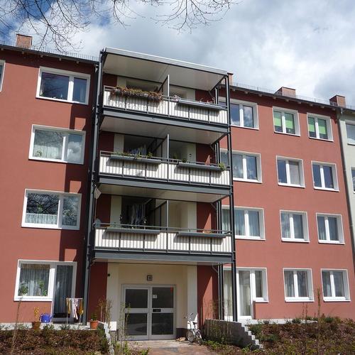 B.V. Max-Plankstr. in Kiel Balkonanlagen aus Stahl, C5 beschichtet